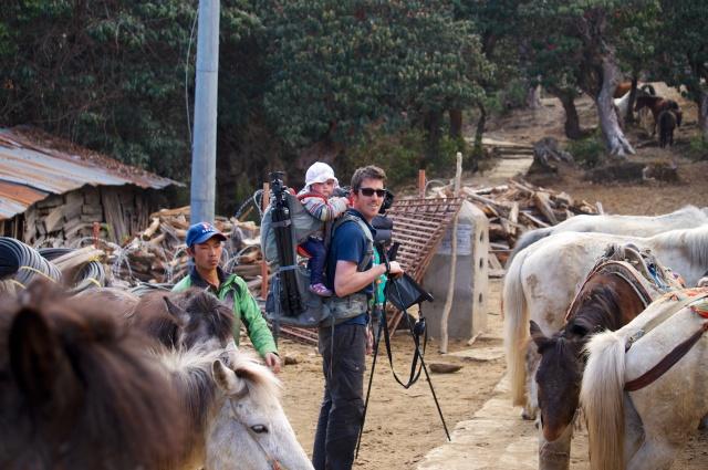 Me and horses near Ghorepani