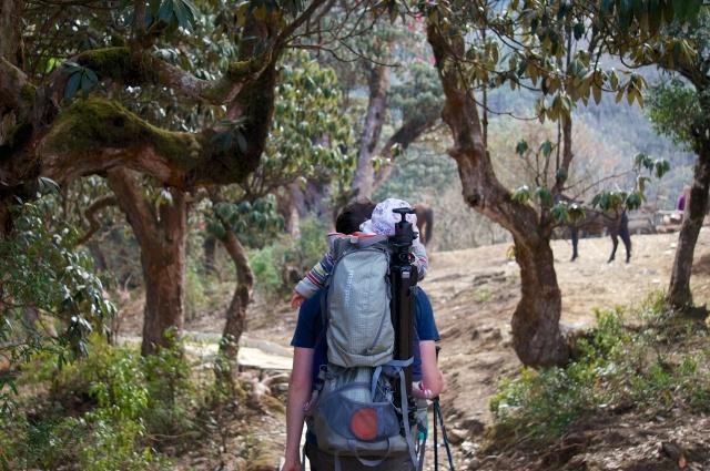 Me with MacPac near Ghorepani