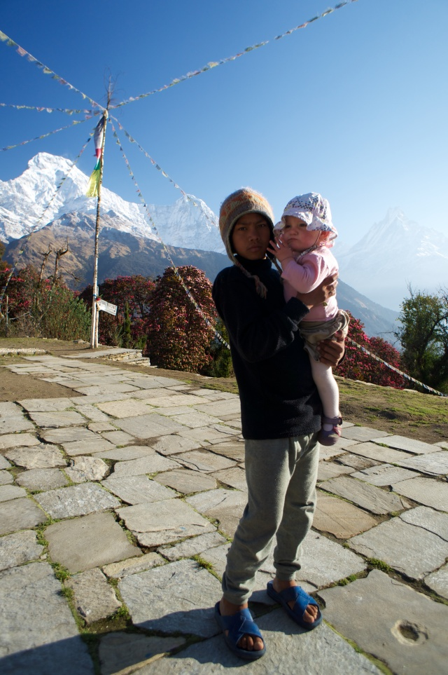 Tadapani Nepali boy holding Emily