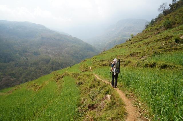 The way to Ghandruk