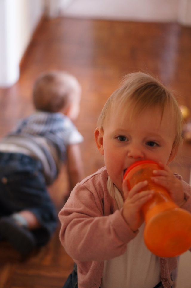 james and emily orange bottle